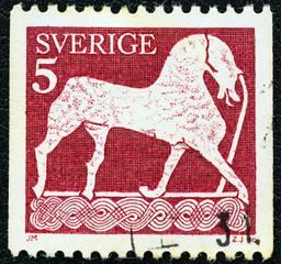 Horse, bas relief (Sweden 1973)