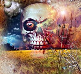 Acrylic Prints Imagination Death in the bloody field