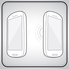 two smartphone beam connect