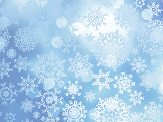 Blue Christmas with snowflakes. EPS 10