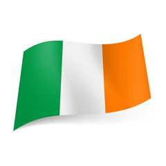 State flag of Ireland.