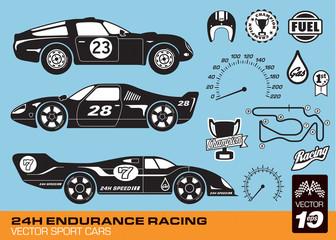 Retro sport cars vector illustration