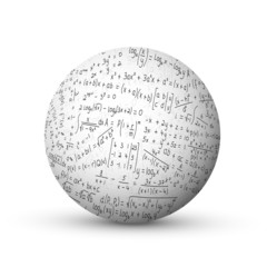 """MATHEMATICS"" Sphere (science math maths x y equations symbols)"