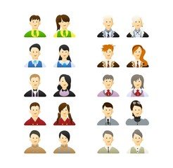 vector color set avatar people in school uniform