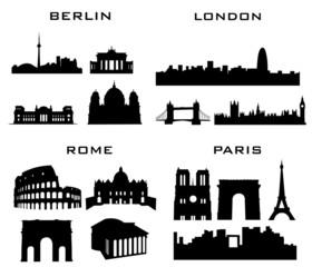 4 cities berlin lodon rome paris