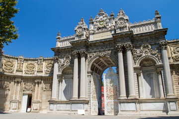 Main gate of Dolmabahce Palace in Istanbul, Turkey
