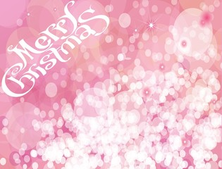Christmas. Pink sparkles vector background.