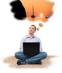 Businessman at laptop