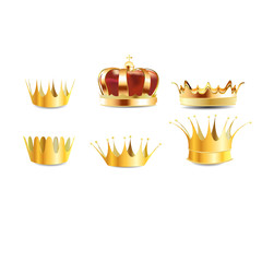 realistic gold heraldic crown embedded or coronet