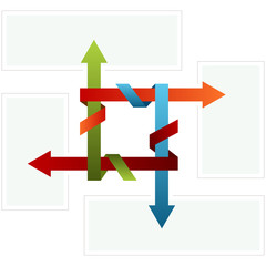 Folded Arrow Chart