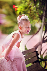 Portrait of a little ballerina