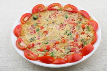 Spicy masala Tomato omelet