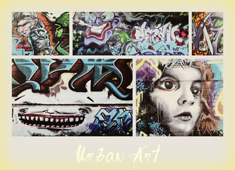 Photo sur Plexiglas Graffiti collage collage ...graffiti
