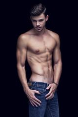 Muscular handsome man in Studio