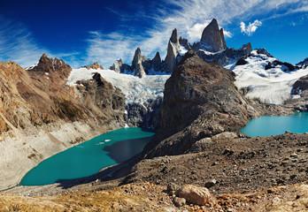 Wall Mural - Laguna de Los Tres and Laguna Sucia, Patagonia, Argentina