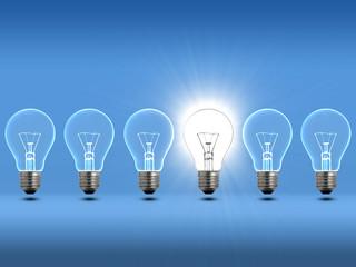 Light bulbs Blue