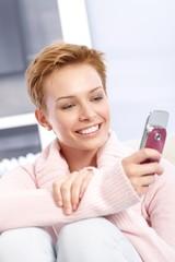 Pretty woman using mobile