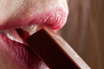 lips and chocolate