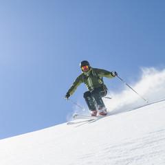 flott unterwegs auf Skiern