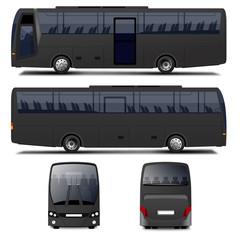 Vector Black Bus