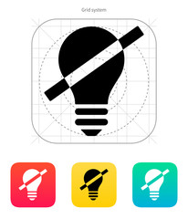Disabled bulb icon. Vector illustration.