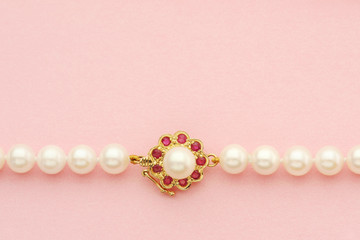 Necklace with pearls and gold