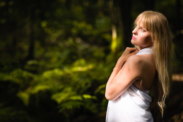 Woman and forest