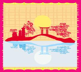 Decorative Chinese landscape card