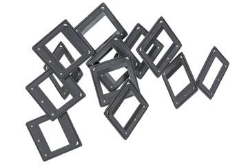 Blank photo frames for reversal film