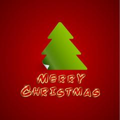 Merry Christmas card, vector illustration.