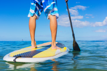 Man on Stand Up Paddle Board