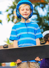 Boy with Skate Board