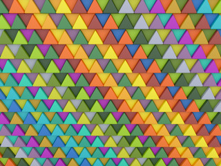 Poster ZigZag Background of colored triangles