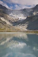 Mountain lake Moiry in the Valais