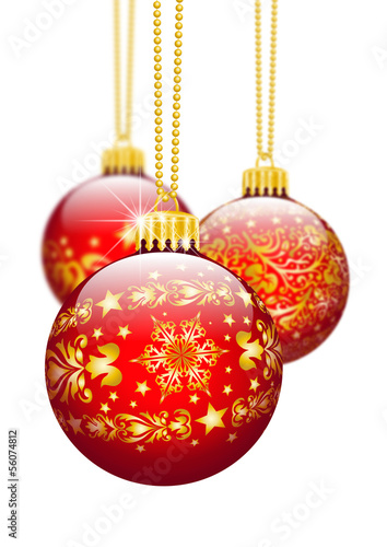 Christbaumschmuck Weihnachtskugel Dekoration Textur Rot 3d