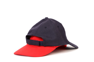 Black and red cap for baseball