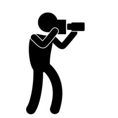 Piktogramm Fotograf Silhouette Vektor