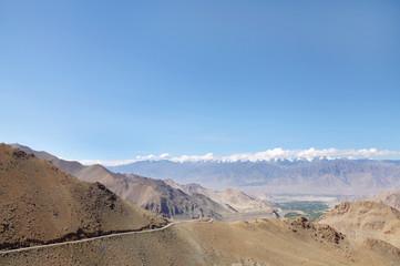 Road carved in Ladakh range, HDR