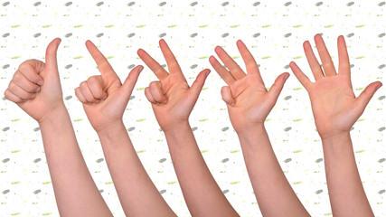 daumen hoch - hände zeigen
