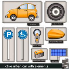 urban car with elements