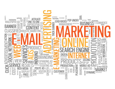 """""""E-MAIL MARKETING"""" Tag Cloud (online viral internet advertising)"""