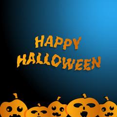 Happy Halloween  blue background
