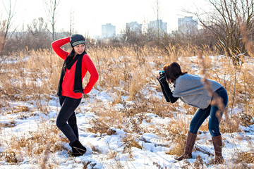 Photoshooting in winter