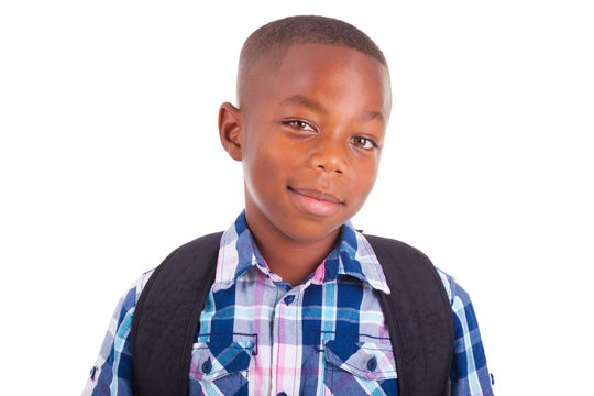 African American school boy - Black people