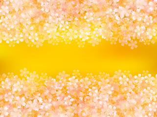 桜 背景 金