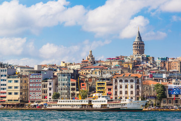 Golden Horn and the historic Galata area attracts tourists from