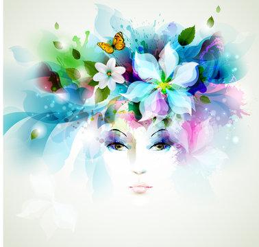 Beautiful fashion women face