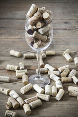 vintage cork and glass