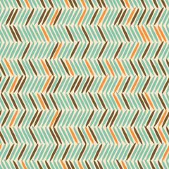 Autocollant pour porte ZigZag Seamless Chevron Background