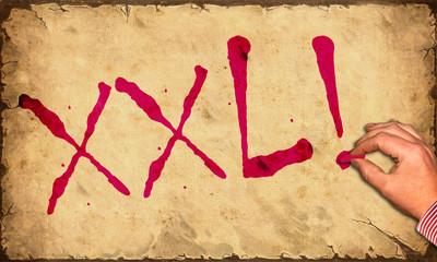 Papierschrift - XXL